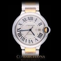 Cartier Ballon Bleu 42mm Gold/Stahl 42mm Silber Römisch