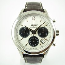 Longines Column-Wheel Chronograph pre-owned 41mm Champagne Leather