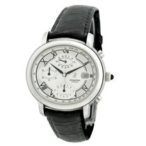 Audemars Piguet Millenary Chronograph pre-owned 41mm Silver Chronograph Date Fold clasp