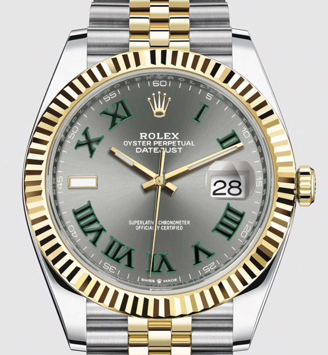 Rolex Datejust 41mm 126333 Jubilee 2019 Wimbledon Dial