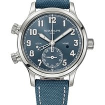 Patek Philippe Travel Time Steel 37.5mm Blue Arabic numerals United States of America, New York, New York
