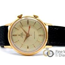 Tudor Heritage Advisor pre-owned 35mm Champagne Alarm Leather