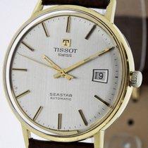 Tissot Seastar Vintage Men's Watch solid 18K Yellow Gold...