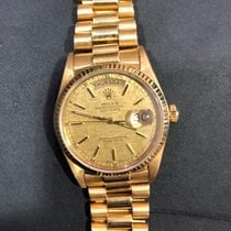 Rolex Day-Date 36 Žluté zlato 36mm Zlatá Bez čísel