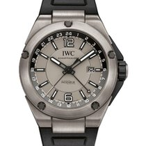 IWC IW326403 Ingenieur Dual Time 45mm Automatic in Titanium -...