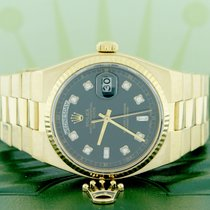 Rolex President Day-Date Oysterquartz 18K Gold 36mm Watch...