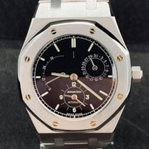 Audemars Piguet Royal Oak Dual Time Steel 36mm Black No numerals