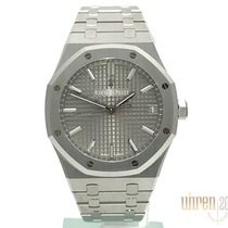 Audemars Piguet Royal Oak Jumbo Acero 41mm Gris Sin cifras