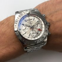 Breitling Chronomat 44 GMT Zeljezo 44mm Srebro Arapski brojevi
