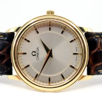 Omega De Ville Prestige Yellow gold 27mm Silver No numerals