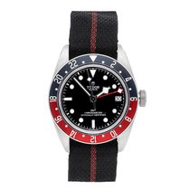 Tudor Black Bay GMT pre-owned 41mm Silver Date GMT Textile