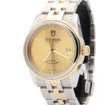 Tudor Glamour Date Zlato/Zeljezo 36mm Zlatan Bez brojeva