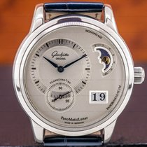 Glashütte Original PanoMaticLunar Staal 39.3mm Zilver Arabisch