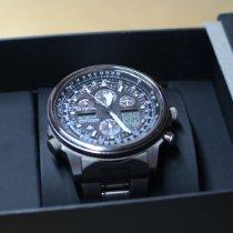 Citizen Promaster Sky pre-owned 45mm Black Chronograph Date GMT Titanium
