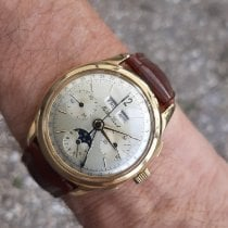 Mathey-Tissot Yellow gold 38mm Manual winding Chrono Calendrier Complet Phase de Lune pre-owned