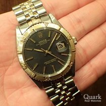 Rolex Datejust Turn-O-Graph Gold/Stahl 36mm Schwarz