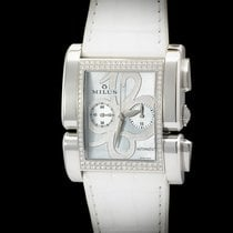 Milus Apiana Stainless Steel And IF-IVVS Diamonds Blue MOP Dial
