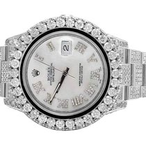 Rolex Mens Rolex Datejust II Full Iced 41 MM 116334 Stainless...
