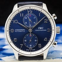 IWC IW371432 Portuguese Chronograph SS LAUREUS Blue Dial (29704)