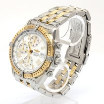 Breitling Crosswind Racing Acero y oro 44mm Blanco