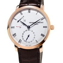 Frederique Constant Manufacture Slimline Staal 42mm Wit Romeins