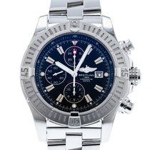 Breitling Steel Automatic Black 48mm pre-owned Super Avenger