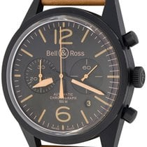 Bell & Ross BR V1 pre-owned 43mm Black Chronograph Date Leather