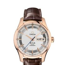 Omega De Ville Hour Vision Rotgold 41mm Silber Keine Ziffern