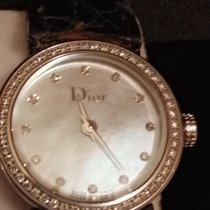 Dior La D De Dior pre-owned 19mm Mother of pearl Equation of time Crocodile skin