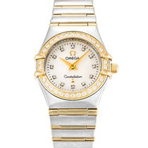 Omega Constellation Ladies Gold/Steel 24mm Mother of pearl