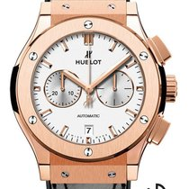 Hublot Classic Fusion Chronograph Rotgold 42mm Weiß