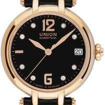 Union Glashütte Sirona Aur roz 32,00mm Negru