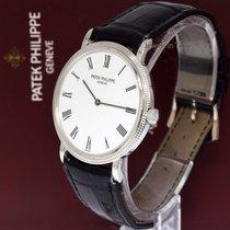 Patek Philippe 5120 Calatrava 18k White Gold Mens Watch & Box...