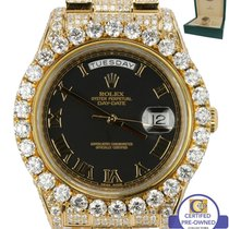 Rolex 2015 Rolex Day-Date II 41mm Diamond President 218238 18K...
