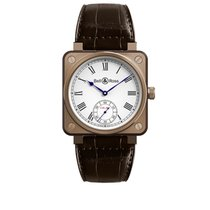 Bell & Ross BR 01 Rose gold 46mm White Roman numerals