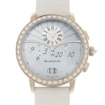 Blancpain White gold Automatic Blue 38.6mm new Women