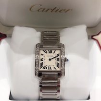 Cartier Tank Française W4TA0009 New Silver 30.40mm Quartz