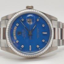Rolex Day Date White Gold, Blue Diamond Stella Dial, Ref. 1803
