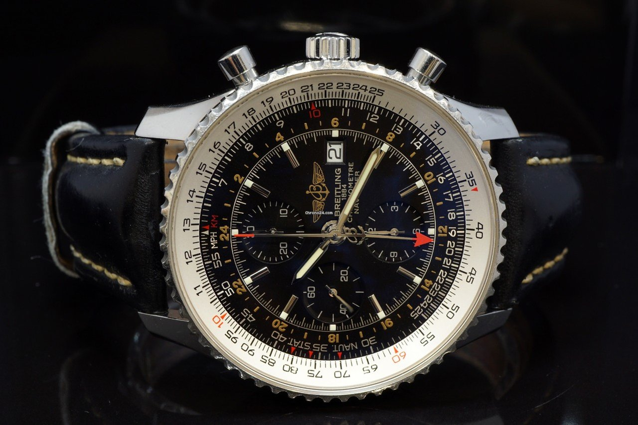 Breitling 2009 Navitimer World Steel A24322 Box Papers