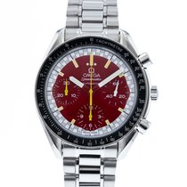 Omega Speedmaster Reduced Zeljezo 39mm Crven