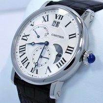 Cartier Rotonde de Cartier Stal 42mm Srebrny Rzymskie