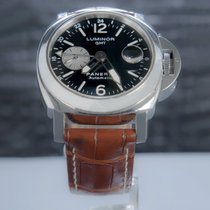 Panerai Luminor GMT Automatic tweedehands 44mm Zwart Datum Leer