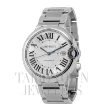 Cartier Ballon Bleu 42mm pre-owned 42mm Silver Date Steel