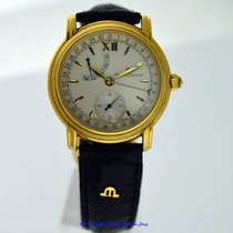 Maurice Lacroix Yellow gold Manual winding Silver 38mm pre-owned Masterpiece