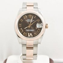 Rolex Lady-Datejust 178241 Midsize Chocolate Face Box &...