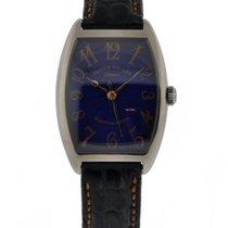 Franck Muller Cintre Curvex 18kt White Gold Blue Dial With...