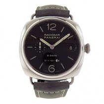 Panerai Radiomir 8 Days PAM00268 Stainless Steel Grey Leather...