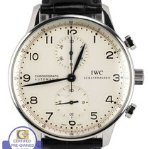 萬國 MINT IWC Portuguese Chronograph Stainless Blue 41mm 3714...