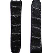 Cartier Santos 100 Black Alligator Strap. Red lining