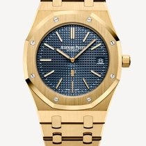 Audemars Piguet Royal Oak Jumbo Geelgoud 39mm Blauw